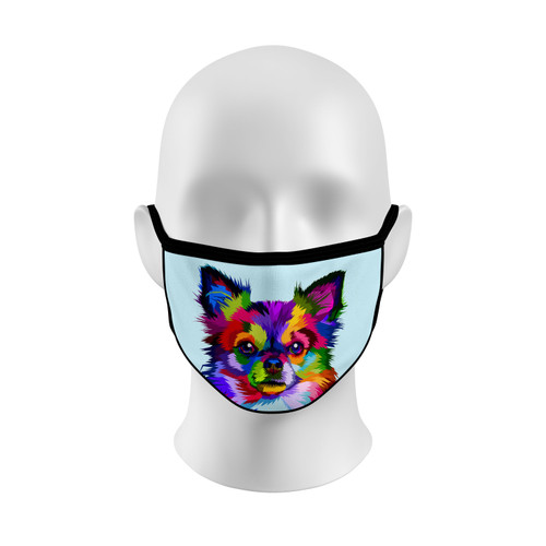 Colorful Papillon Face Mask with Elastic Straps