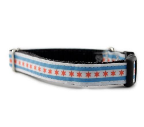 Chicago Flag Dog Collar