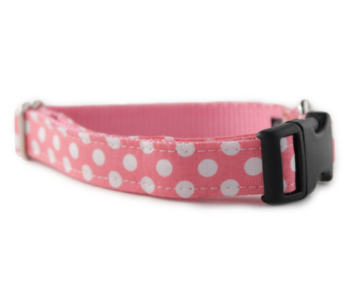Bubble Gum Dot Dog Collar