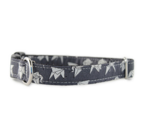 Paper Cranes at Night Dog Collar