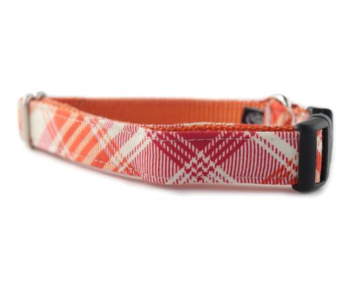 Sorbet Plaid Dog Collar