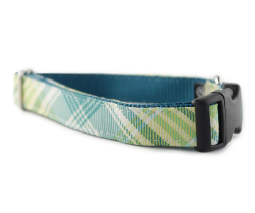 Garden Plaid Dog Collar