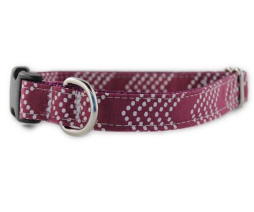 Raspberry Splash Chevron Dog Collar