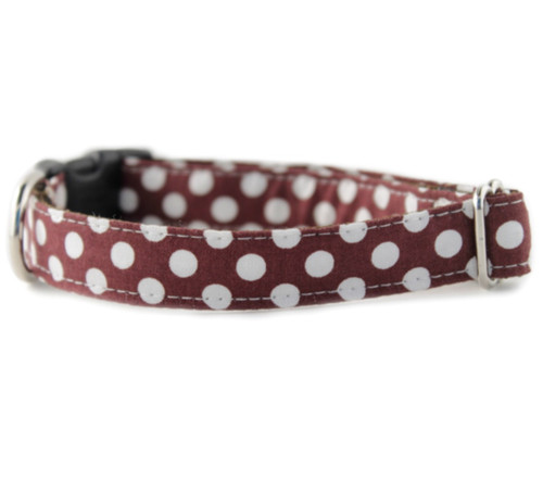 Choco Dot Dog Collar