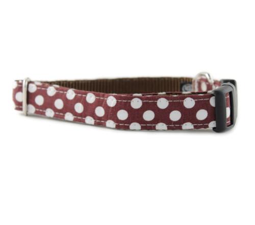 Choco Dot Dog Collar
