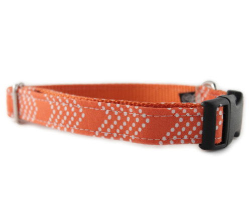 Orange Splash Chevron Dog Collar