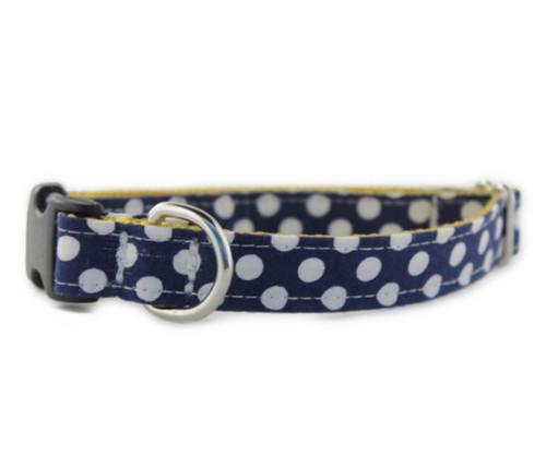 Navy Dot Dog Collar