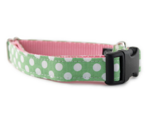 Lime Dot Dog Collar