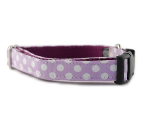 Lilac Dot Dog Collar