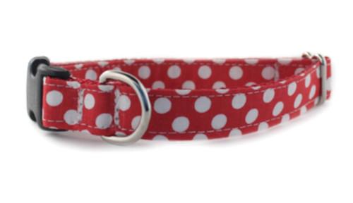 Crimson Dot Dog Collar