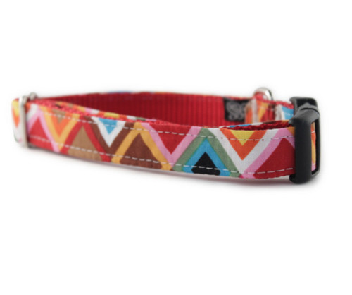 Rainbow Mosaic Dog Collar