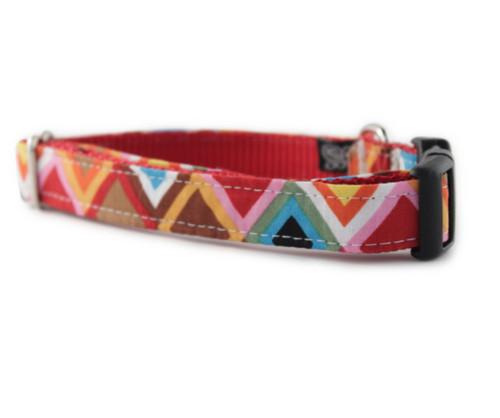 Rainbow Mosaic Dog Collar
