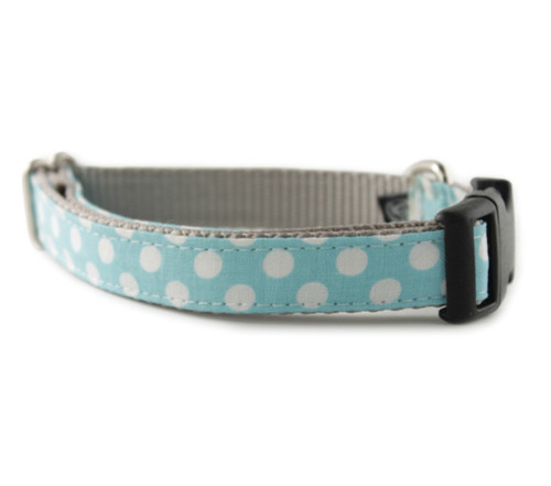 Ice Blue Dot Dog Collar