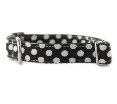 Ebony Dot Dog Collar