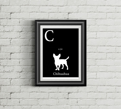 C is for Chihuahua Alphabet Art Print