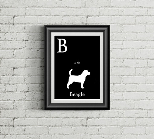 B is for Beagle Alphabet Art Print