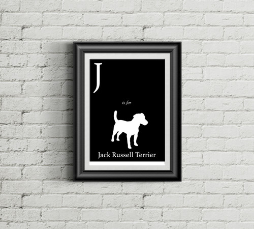 J is for Jack Russell Terrier Alphabet Art Print