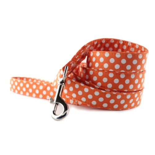 Tangerine Dot Dog Leash