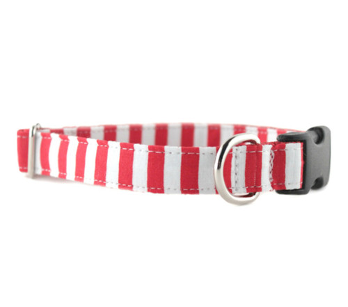 Candy Cane Stripe Dog Collar