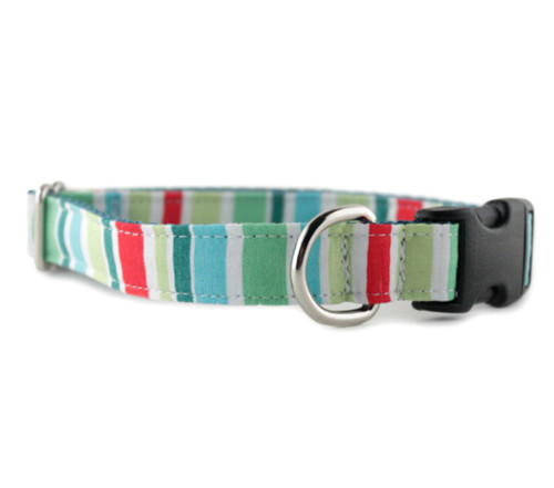 Holiday Stripe Dog Collar