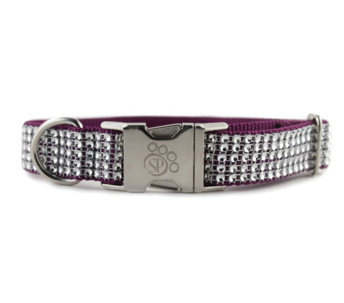 Purple Bling Dog Collar