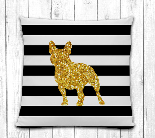 French Bulldog Stripe Pillow