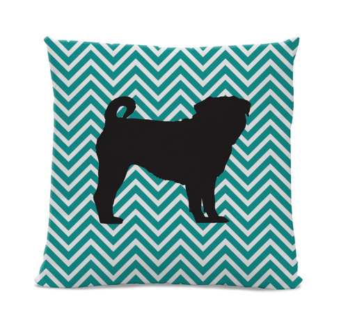 Chevron Pug Pillow