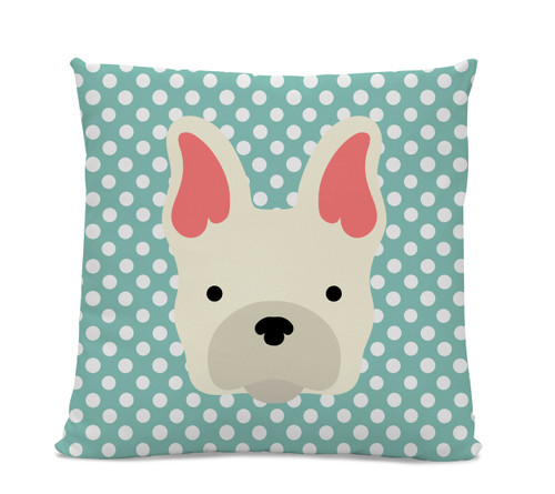 French Bulldog Polka Dot Pillow
