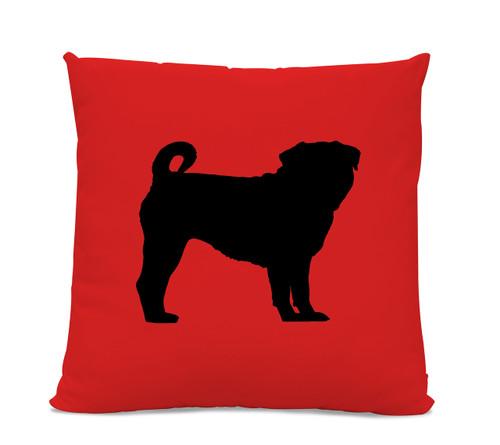 Pug Silhouette Pillow