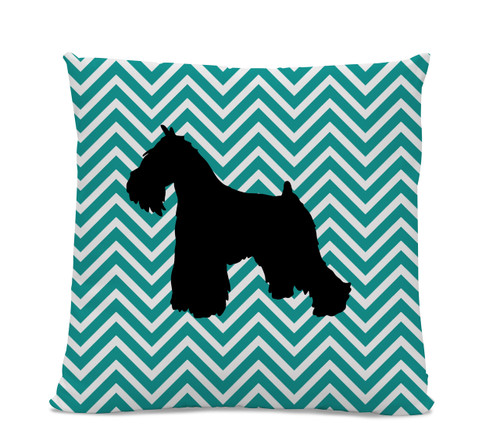 Chevron Miniature Schnauzer Pillow
