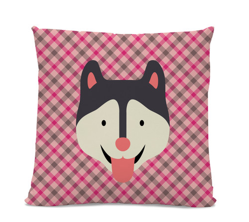 Husky Plaid Pillow