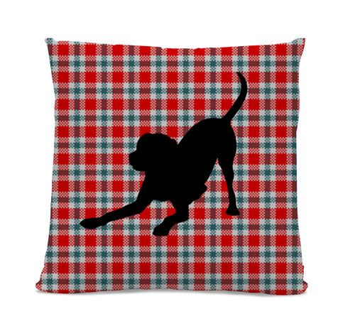 Labrador Plaid Pillow