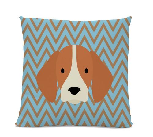 Beagle Chevron Pillow