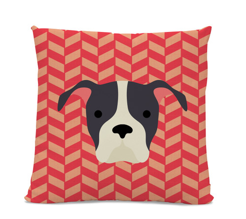 Pitbull Herringbone Pillow