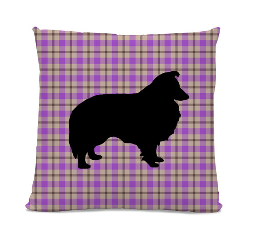 Sheltie Plaid Pillow