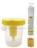 Set of Vacuum Urine Collection Cups with 10 ML Yellow Tube Vials