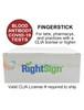 RightSign COVID-19 Antibody Test - Finger Stick - IgGIgM Rapid Blood Screen Cassette Box