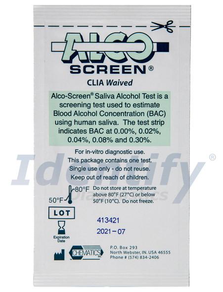 ALCO Screen Saliva Alcohol Test Strip CLIA Waived Bulk Wholesale Case