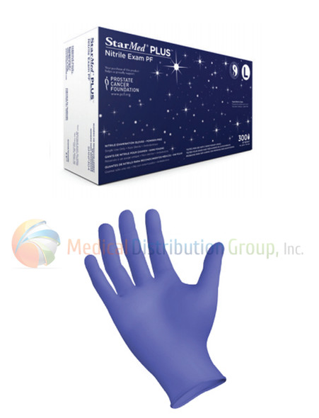StarMed® PLUS Nitrile Exam Gloves Powder-Free - Box of 300