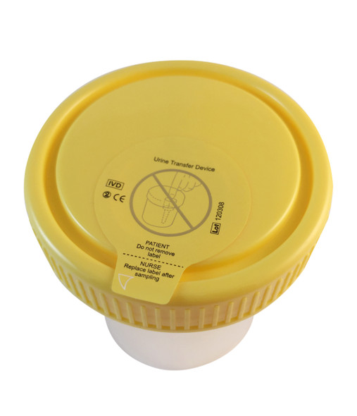 Vacuum Urine Collection Cups for Drug Testing - Lid Seal