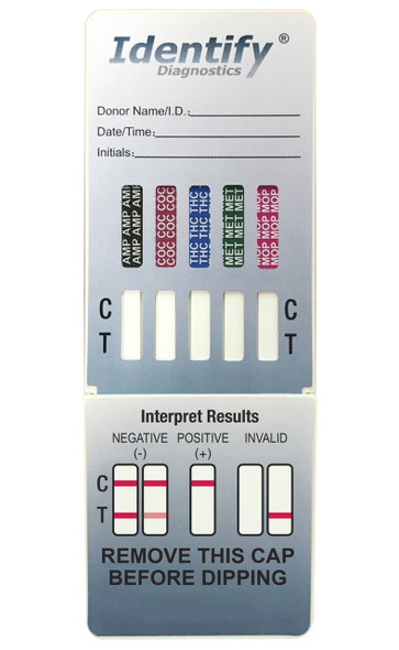 Identify Diagnostics 5 Panel Drug Test Dip Card - CLIA Waived - Medical Distribution Group