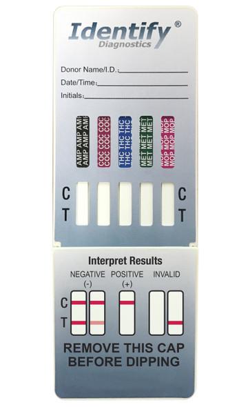 Identify Diagnostics 5 Panel Drug Test Dip Card - CLIA Waived - Medical Distribution Group