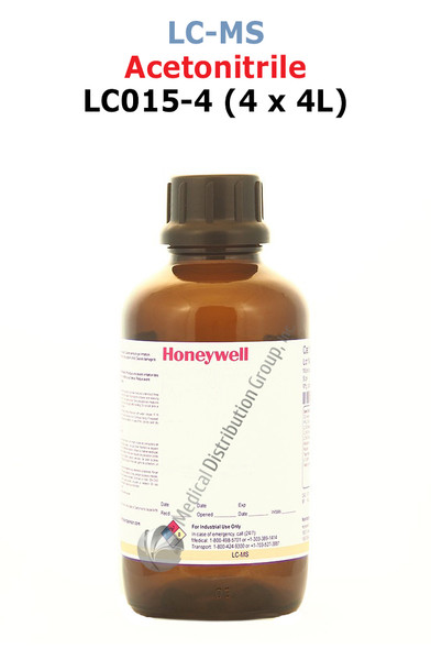 Acetonitrile LC015-4 Honeywell LCMS Medical Distribution Group