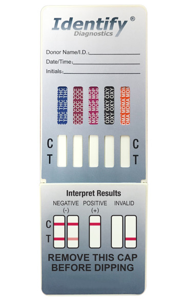 Identify Diagnostics 10 Panel Drug Test Dip - CLIA Waived, FDA 510(k) Cleared, OTC Cleared