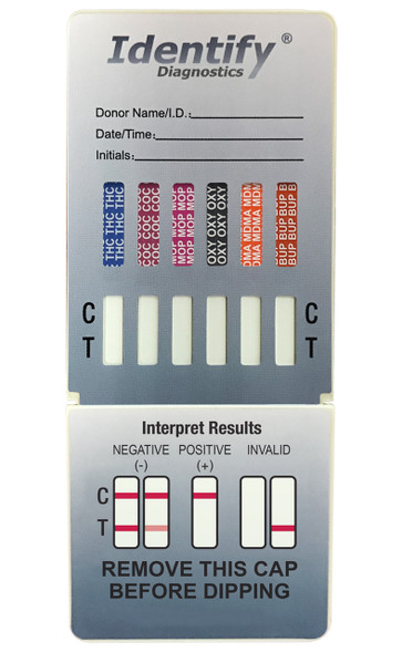 Identify Diagnostics 12 Panel Drug Test Dip - CLIA Waived, FDA 510(k) Cleared, OTC Cleared