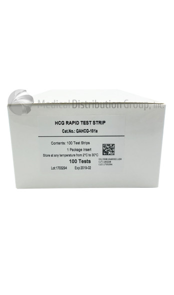 HCG Pregnancy Test Dip Strips Healgen GAHCG 101A box 100 units