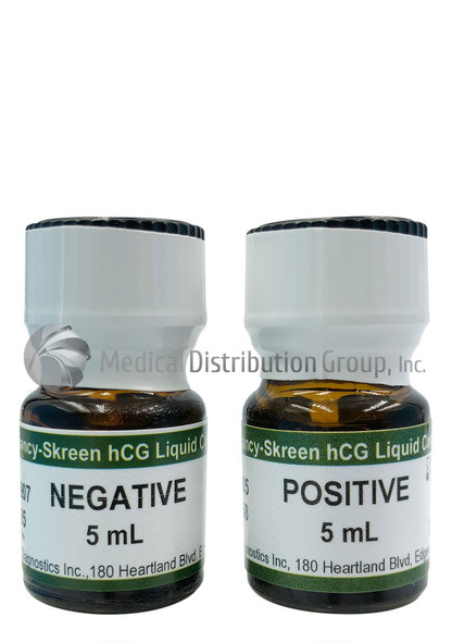 Negative & Positive Liquid Control Urine for hCG pregnancy tests - 2 Bottles at 5mL each