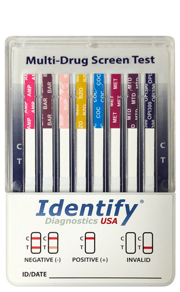 Identify Diagnostics USA 10 Panel Drug Test Cup - CLIA Waived - OTC Cleared - Made In USA