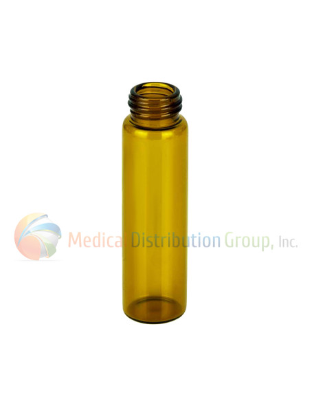 10ML Amber Glass Dram Vials - Liquid Bottles Only - Caps Sold Separately