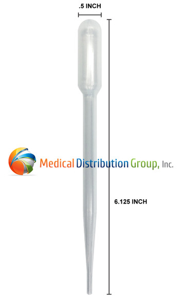 Transfer Pipettes 138080 7ml for Indiko Plus - Dimensions